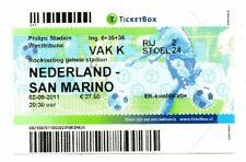 Ticket Netherlands - San Marino 02.09.2011
