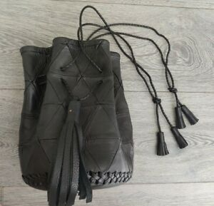 Wendy Nichol $1500 Patchwork Bullet Bag Black Leather Acne Boyy