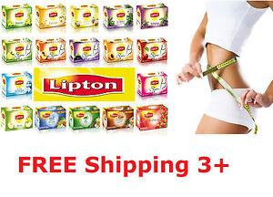 Lipton SLIM PLUS Mixed Herbal Tea, Apple, Apricot, Lemon, Cherry, Earl Grey Tea