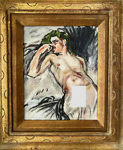 Vintage Male Nude Oil Painting af Knut Magnus Enckell Finnish Finland Gay