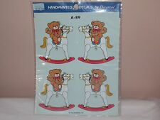 Vtg 1986 Decoral Handpainted Waterslide Decals Teddy Bears  A-89 New Old Stock