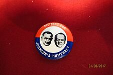 Citizens For Johnson And Humphrey 1968 Kleenex Reproduction Button