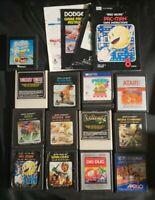 A lot of 13 Vintage Atari 2600 Video Games plus a few booklets