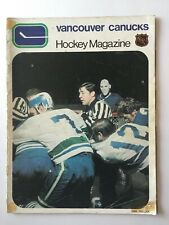 VANCOUVER CANUCKS VS. ST. LOUIS BLUES NHL GAME PROGRAM 1971 SEASON RARE