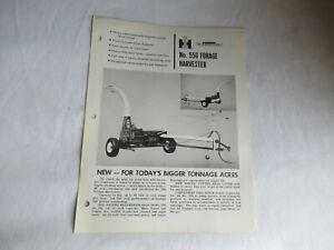 IH International 550 forage harvester brochure
