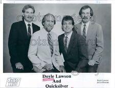1988 Bluegrass Band Doyle Lawson & Quicksilver Press Photo