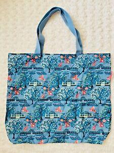 New Cath Kidston Botanical Garden Print Large Foldaway Tote Bag