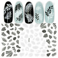 3D Nail Stickers Flower Tropical Plants Adhesive DIY Nail Art Transfer Decals S8