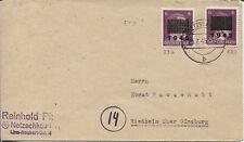 Netzschkau-Reichenbach 5b I und 5b IIb auf Brief nach Riedheim (B07101)