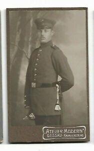 Cdv- Soldat ? - Homme En Uniform- Photo Par Atelier Moderne, Dessau C436
