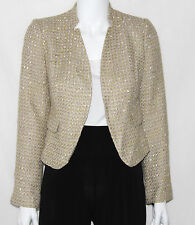Calvin Klein Size 10P Tweed Stand Collar Long Sleeves Blazer Multi-Color New