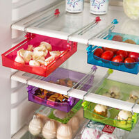 Slide Kitchen Fridge Space Freezer Organizer Saver Storage Rack Shelf Holder 1x·