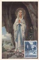 MXC34) 1958, Poste Vatican,  Je Suis L'immaculatee Conception,  maximum card