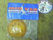 MID-USA, BULLET TURN SIGNAL LENS AMBER,FL 63-85, FX 71-73, REPL H-D #68571-63A.#