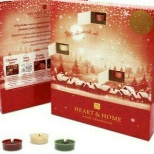 *Advent calendar Chrismas tealight candles 26 beautiful Chrismas scented candle*