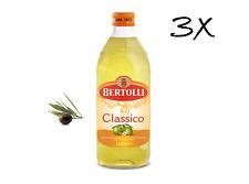 3x Bertolli Classico Natives aus italien 100% Olivenöl 1L italien olio di oliva