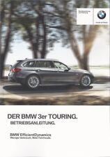 BMW 3er   TOURING Betriebsanleitung  2013  F31   Bordbuch   Handbuch BA