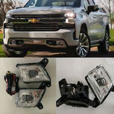 For 2019-2021 Chevrolet Silverado 1500 Front Bumper LED Fog Lights DRL 1Pair
