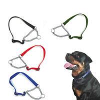 Dog Adjustable Half Semi Choke Choker Check Chain Training Collar-Trainer New