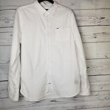 Buffalo David Bitton Mens White Button Down Sandal Dress Shirt XL