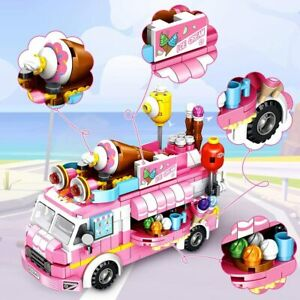 VATOS Girls Building Blocks Toys Ice Cream Truck 553 Pieces