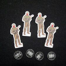 NEW Dead of Winter Long Night - 4 Bandit Standees with plastic stand Game Parts
