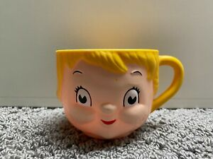 Vintage Campbell's Soup Cup Plastic Collectible Mug Blonde Girl Child Face
