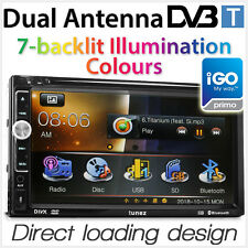 "7"" Car DVD GPS Dual Antenna DVB-T MPEG-4 Player Stereo Head Unit Radio TV Tunez"