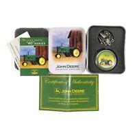 John Deere Exclusive Edition 40 Series Tractor Pocket Watch In Tin w Paperwork