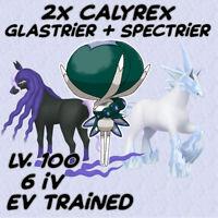 2x Calyrex + Spectrier + Glastrier / 6IV Max EVs Moveset / Pokemon Sword Shield