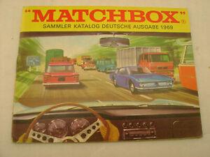 1969 MATCHBOX LESNEY SAMMLER KATALOG DEUTSCHE AUSGABE