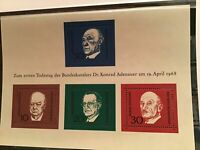 Germany Churchill and world leaders mint never hinged stamps sheet R21773