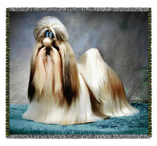 ShihTzu Dog -Tom Weigand DOG WOVEN Tapestry Throw Blanket - Pooch Power