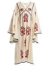 Vita kin vyshyvanka, beige dress, Spanish Pigeon embroidery, free shipping