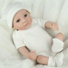 "10"" Full Body Vinyl Silicone Baby Dolls Handmade Lifelike Newborn Boy Doll Gift"