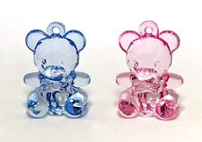 Large Acrylic Teddy Bear Charm - New Baby Embellishment - Baby Shower Charms