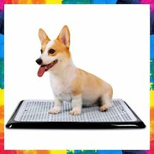 DOG TRAINING TOILET Wee Puppy Pad Holder Tray for Pets Cat Black By PET AWESOME