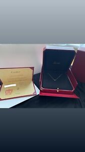 Genuine Cartier Diamants Legers Necklace.Size XS 18ct Yellow Gold. Dainty/classy
