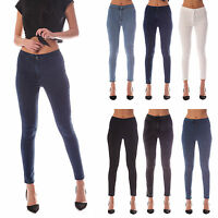 WOMENS HIGH WAISTED STRETCHY SKINNY FIT JEANS LADIES JEGGINGS 6 8 10 12 14 16 18