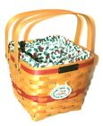 Longaberger Christmas Collection 1995 Edition Cranberry Basket, Liner Protector
