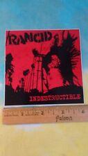 Rancid Indestructible Logo 4 x 4 Inch Sticker