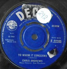 "CHRIS ANDREWS - To Whom It Concerns - 7"" Single"