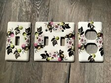 3 Switch Plates White Porcelain AppleTree 2/1 Toggle Outlet   Renovator's Supply