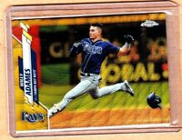 """2020 TOPPS CHROME""""SSP""""WILLY ADAMES""""GOLD WAVE+07/50""""+TAMPA BAY RAYS+"""