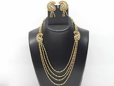 Indian Bollywood Ethnic Peacock Designer Fashion Necklace Earrings Set
