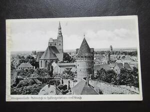 AK Tangermünde Teilansicht mit Gefängnisturm und Kirche um 1940