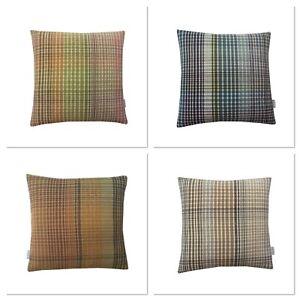 Modern Tartan Tweed Check Faux wool Multi colours hand made UK cushion cover