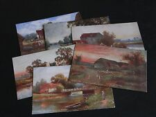 ORIGINAL SET OF SIX TUCK POSTCARDS - BERKSHIRE - OILETTE No.7536.