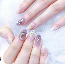 Nail Art Pegatinas Brillo tira de Uñas de Gel transparente uñas arte fácil aplicar