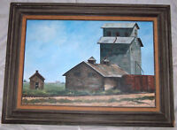 "Beautiful 30""X20"" Framed Painted Art Picture On Canvas Country Mill Farm Signed"